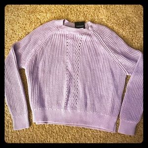 NWT Topshop Lavender Cable Knit Sweater